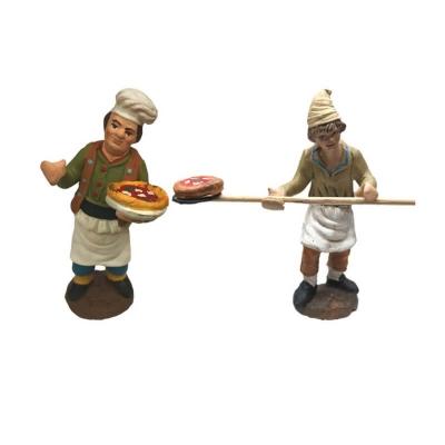 Pizzaioli a lavoro in terracotta 7 cm