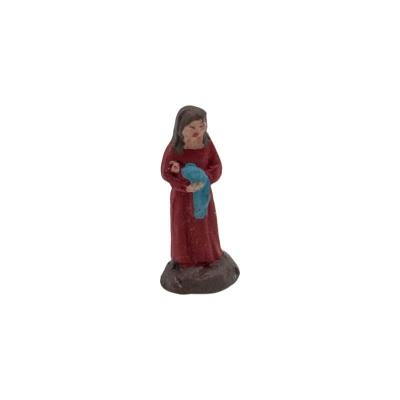 Bambina in terracotta 2 cm