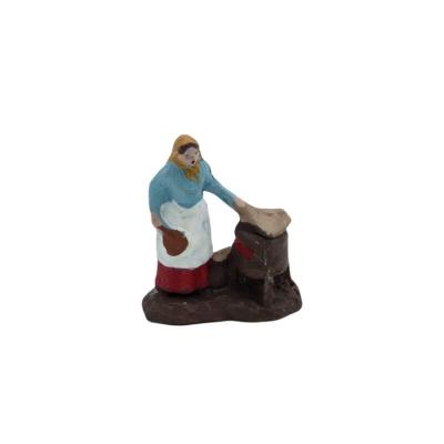 Donna che vende caldarroste in terracotta 2 cm