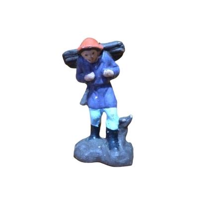 Boscaiolo in terracotta 2 cm