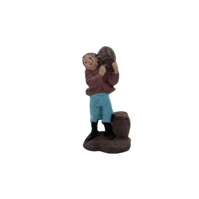 Uomo che trasporta botti in terracotta 2 cm