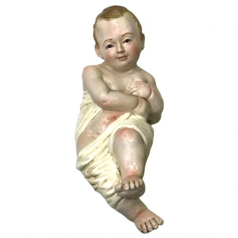 Gesù Bambino occhi in vetro per pastori da 40 a 55 cm