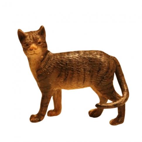 Gatto artigianale con occhi di vetro per pastori da 30-35 cm