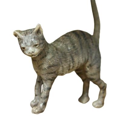 Gatto grigio con occhi di vetro per pastori da 30-35 cm