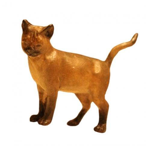Gattino con occhi di vetro per pastori da 30-35 cm