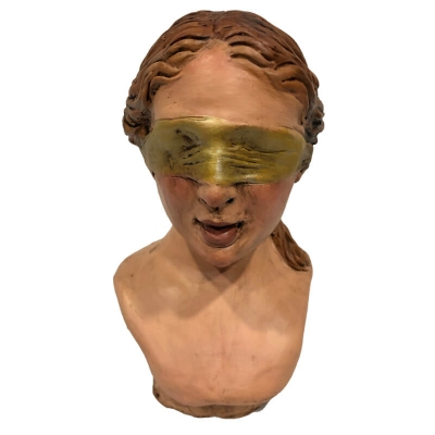 Dea Bendata busto in ceramica 16 cm
