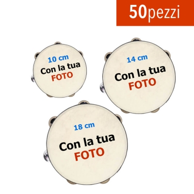 Set da 3 Tamburelli in ecopelle 10cm 14cm 18cm