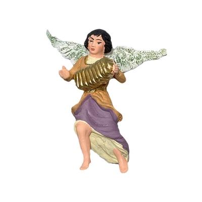 Angelo con fisarmonica in terracotta 10 cm