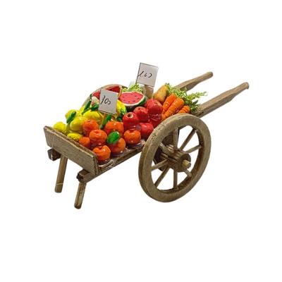 Carretto con frutta per pastori da 7 cm