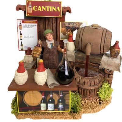 Cantina con vinaio in movimento 10 cm