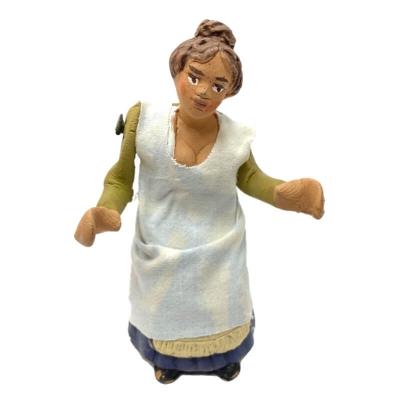 Donna seduta 10 cm con braccio e busto in movimento