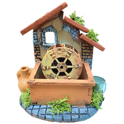 Mulino ad acqua in terracotta 12 cm