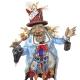 Gobbo scio scio vestito colorato con occhi in vetro 40 cm