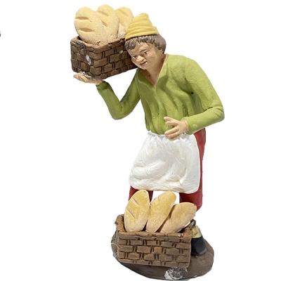 Venditore di pane in terracotta 12 cm