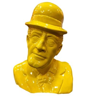 Busto Totò giallo in terracotta 20 cm