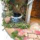 Presepe napoletano in sughero con luci e fontana 45 cm