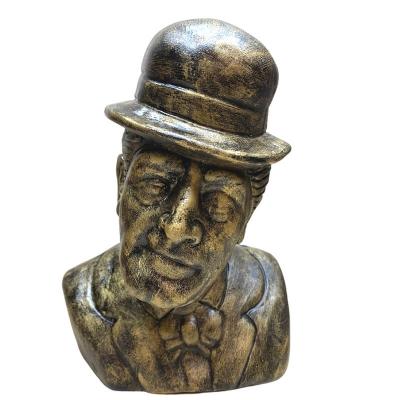 Busto Totò antico in terracotta 20 cm