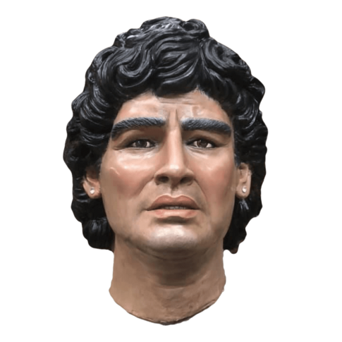 Testa di Maradona in terracotta misura reale