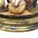 Campana da 26 cm con natività in terracotta vestita in stoffa da 10 cm