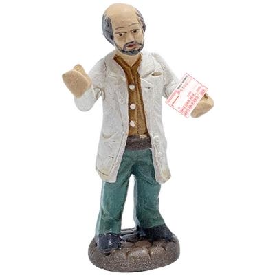 Statuetta Dottore o farmacista in terracotta 10 cm
