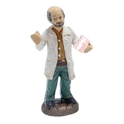 Statuetta Dottore o farmacista in terracotta 7 cm