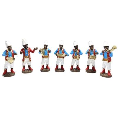 Banda di suonatori in terracotta 10 cm