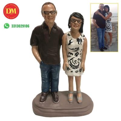 Statuina coppia personalizzata 15 cm