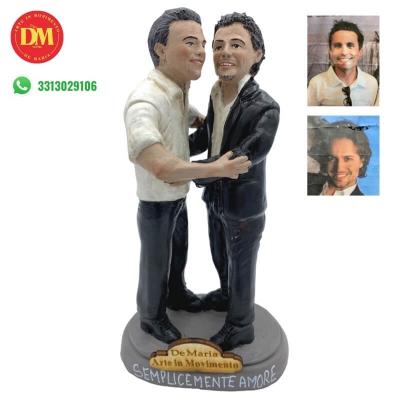 Statuina coppia personalizzata 25 cm