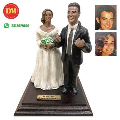 Statuina sposi personalizzata 15 cm