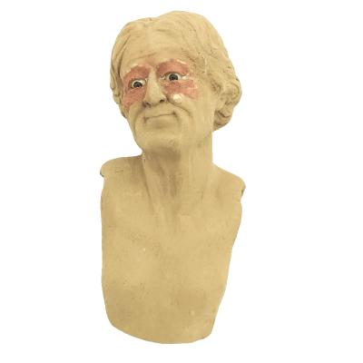 Testa Anziana 25 cm con occhi in vetro