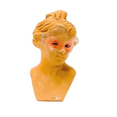 Testa giovane donna con occhi in vetro - VARIE MISURE