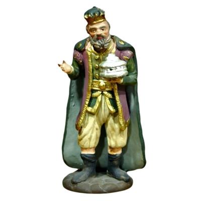 Re Magio con mirra in terracotta 12 cm