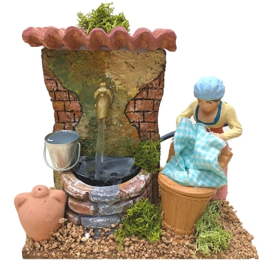 Lavandaia con fontana 13 cm