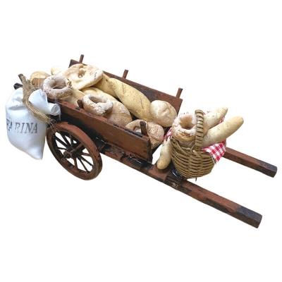Carretto napoletano con pane per pastori da 10 cm