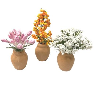 Set da 3 vasi con fiori per pastori da 7 a 15 cm