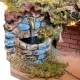 Presepe completo di luci e fontana in terracotta 27 cm