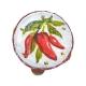 Tamburello con dipinto dei peperoncini 4.5 cm