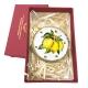 Tamburello da 4.5 cm con dipinto dei Limoni in scatola regalo