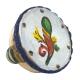 Tamburello da 4.5 cm con dipinto dell'asso di bastoni