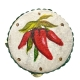 Tamburello con dipinto dei peperoncini 8 cm