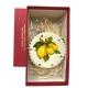 Tamburello da 8 cm con dipinto dei Limoni in scatola regalo