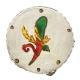 Tamburello da 8 cm con dipinto dell'asso di bastoni