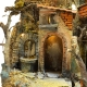Presepe con tempio completo di fontana e luci 60 cm