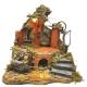 Tempio presepe stile 700 completo di pastori e luci 38 cm