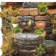 Tempio presepe stile 700 con luci per pastori da 10 a 12 cm