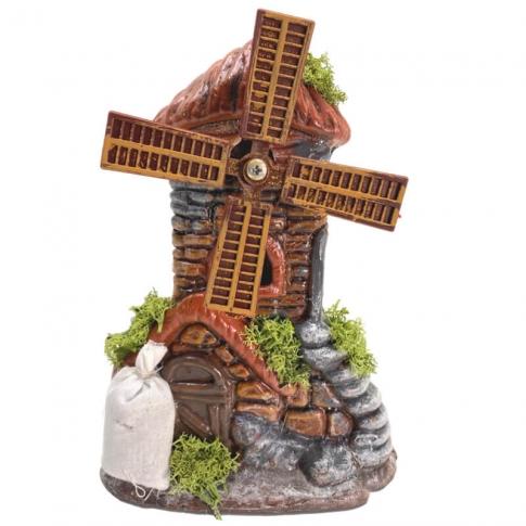Mulino a vento in terracotta 18 cm