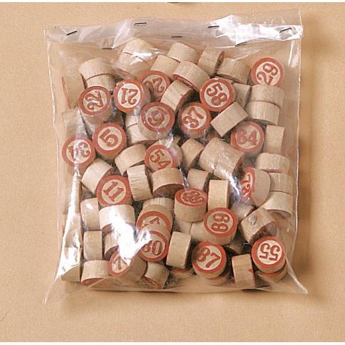 Numeri in legno per tombola