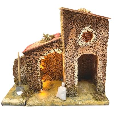 Casa in sughero con luce 20 cm
