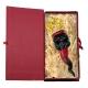 Corno luxury pulcinella in terracotta 10 cm con scatola regalo