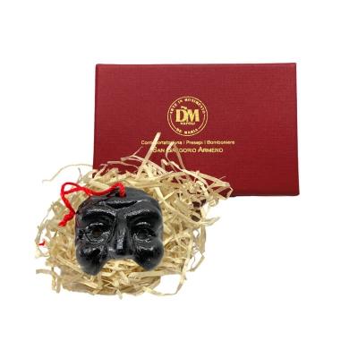 Maschera di Pulcinella 3 cm nera in scatola regalo